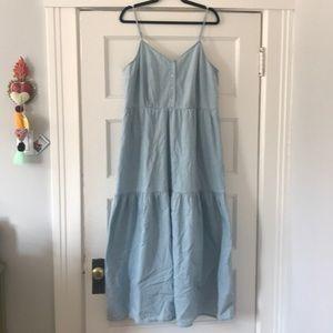 Universal Thread | XXL | Light Denim Peasant Dress